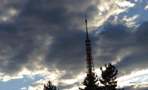 tokyo tower n sky